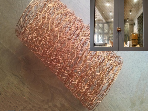 Architectural copper mesh, hexagonal hole